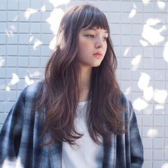 外国人風 重めバング 重ため 外国人風カラー ヘアスタイルや髪型の写真・画像