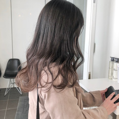 グラデーション ピンク かわいい ナチュラル ヘアスタイルや髪型の写真・画像