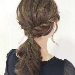 ナチュラル 簡単ヘアアレンジ ヘアアレンジ ルーズ ヘアスタイルや髪型の写真・画像