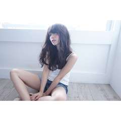 抜け感 巻き髪 ロング ナチュラル ヘアスタイルや髪型の写真・画像