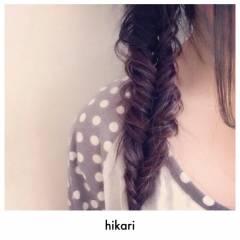 フィッシュボーン ロング ナチュラル 編み込み ヘアスタイルや髪型の写真・画像