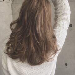 ベージュ 外国人風 ガーリー ロング ヘアスタイルや髪型の写真・画像