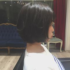 色気 ナチュラル 大人かわいい ボブ ヘアスタイルや髪型の写真・画像