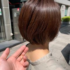 ショートボブ 小顔ショート 大人ハイライト エレガント ヘアスタイルや髪型の写真・画像