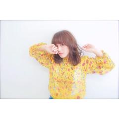 ニュアンス 春 外国人風 ミルクティー ヘアスタイルや髪型の写真・画像