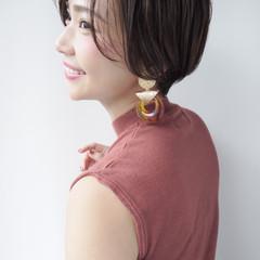 エフォートレス ショート 色気 オフィス ヘアスタイルや髪型の写真・画像