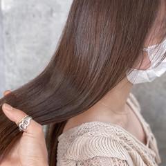 ヌーディベージュ アンニュイほつれヘア ロング 髪質改善 ヘアスタイルや髪型の写真・画像