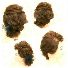 ゆるふわ ロング エレガント ヘアアレンジ ヘアスタイルや髪型の写真・画像
