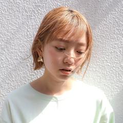 ブリーチ ミニボブ ショートヘア ベリーショート ヘアスタイルや髪型の写真・画像