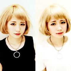 ストリート 外国人風カラー ハイトーン ボブ ヘアスタイルや髪型の写真・画像
