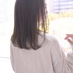 美髪 清楚 セミロング 透明感 ヘアスタイルや髪型の写真・画像
