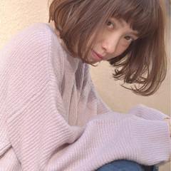 ゆるふわ かわいい ミルクティー フェミニン ヘアスタイルや髪型の写真・画像