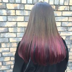 ロング ストリート ハイライト アッシュ ヘアスタイルや髪型の写真・画像