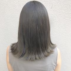 外国人風 セミロング ミディアム オフィス ヘアスタイルや髪型の写真・画像