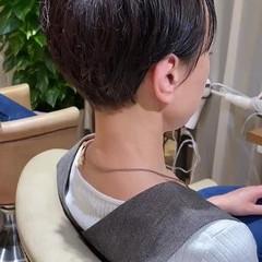 前髪あり ミニボブ ショートヘア ベリーショート ヘアスタイルや髪型の写真・画像