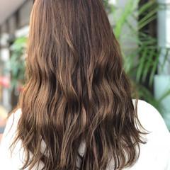 夏 大人かわいい ロング ナチュラル ヘアスタイルや髪型の写真・画像