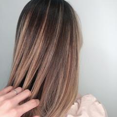 外国人風カラー ロング 外国人 ハイトーンカラー ヘアスタイルや髪型の写真・画像