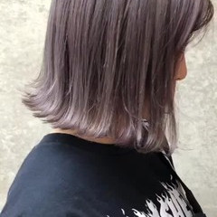 ボブ ストリート 外国人風カラー シルバーアッシュ ヘアスタイルや髪型の写真・画像