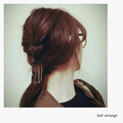 ヘアアクセ ヘアピン 編み込み 三つ編み ヘアスタイルや髪型の写真・画像