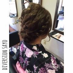 花火大会 まとめ髪 お祭り 編み込み ヘアスタイルや髪型の写真・画像