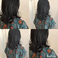 セミロング 透明感 渋谷系 オルチャン ヘアスタイルや髪型の写真・画像