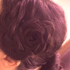 ヘアアレンジ 暗髪 大人かわいい ゆるふわ ヘアスタイルや髪型の写真・画像
