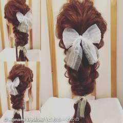 ゆるふわ ヘアアレンジ ロング ガーリー ヘアスタイルや髪型の写真・画像