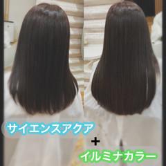 うる艶カラー ナチュラル ロング 髪質改善トリートメント ヘアスタイルや髪型の写真・画像