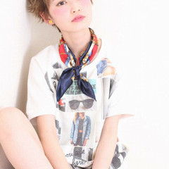 ピュア ショート ナチュラル ガーリー ヘアスタイルや髪型の写真・画像