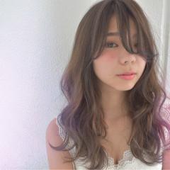 小顔 ガーリー グラデーションカラー こなれ感 ヘアスタイルや髪型の写真・画像