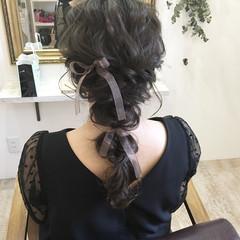 波ウェーブ ヘアアレンジ 編み込み ナチュラル ヘアスタイルや髪型の写真・画像