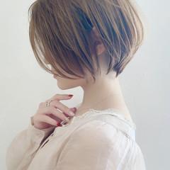 ハンサムショート ショート ナチュラル ショートヘア ヘアスタイルや髪型の写真・画像