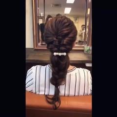 エレガント 簡単ヘアアレンジ ロング くるりんぱ ヘアスタイルや髪型の写真・画像