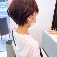 切りっぱなしボブ ショートヘア ショート ミニボブ ヘアスタイルや髪型の写真・画像