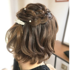 ボブ フェミニン 結婚式 デート ヘアスタイルや髪型の写真・画像