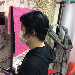モード ショートヘア 切りっぱなしボブ ショート ヘアスタイルや髪型の写真・画像