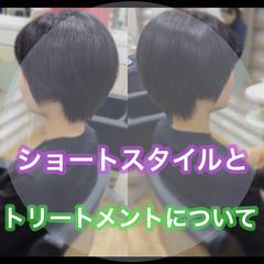 ショートヘア ベリーショート ミニボブ 髪質改善 ヘアスタイルや髪型の写真・画像