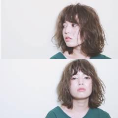 ミディアム 大人かわいい ナチュラル フェミニン ヘアスタイルや髪型の写真・画像