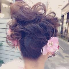 愛され ヘアアレンジ ゆるふわ モテ髪 ヘアスタイルや髪型の写真・画像
