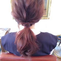 セミロング ゆるふわ ヘアアレンジ 大人かわいい ヘアスタイルや髪型の写真・画像