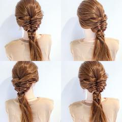 涼しげ アウトドア 女子会 エレガント ヘアスタイルや髪型の写真・画像