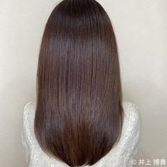 サイエンスアクア セミロング 髪質改善トリートメント 艶カラー ヘアスタイルや髪型の写真・画像