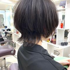 マッシュウルフ ウルフ女子 ショートヘア ショート ヘアスタイルや髪型の写真・画像