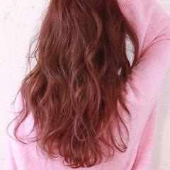 ピンク ガーリー ロング 大人かわいい ヘアスタイルや髪型の写真・画像