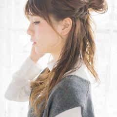 簡単ヘアアレンジ 愛され 大人かわいい ロング ヘアスタイルや髪型の写真・画像