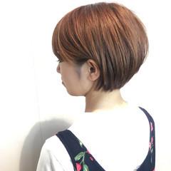 ショートボブ 耳かけ デート ショート ヘアスタイルや髪型の写真・画像