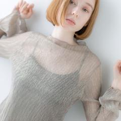 アンニュイ ミニボブ ボブ 韓国ヘア ヘアスタイルや髪型の写真・画像