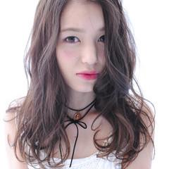 ガーリー ピュア ロング 暗髪 ヘアスタイルや髪型の写真・画像