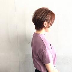 簡単スタイリング 小顔ショート 大人ショート ショート ヘアスタイルや髪型の写真・画像