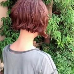 毛先パーマ ゆるふわパーマ 無造作パーマ ショート ヘアスタイルや髪型の写真・画像